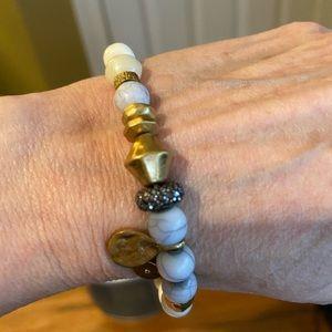 Stella and Dot Vintage Gold and Stone Bracelet